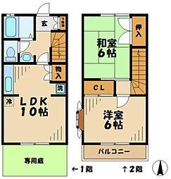 [テラスハウス] 東京都八王子市下柚木 の賃貸【/】の間取り