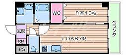 JR東海道・山陽本線 吹田駅 徒歩5分の賃貸マンション 3階1LDKの間取り