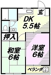 埼玉県所沢市和ケ原3丁目の賃貸マンションの間取り