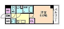 プレサンス塚本駅前[4階]の間取り