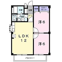 ウィステリアI[2階]の間取り