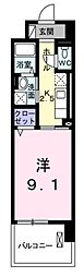 JR武蔵野線 武蔵浦和駅 徒歩13分の賃貸マンション 4階1Kの間取り