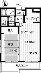 第3高島コーポ[101号室]の間取り