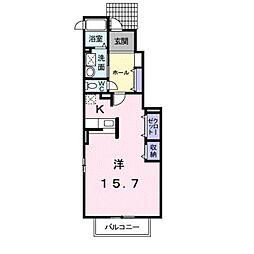 愛知県豊橋市飯村町字高山の賃貸アパートの間取り