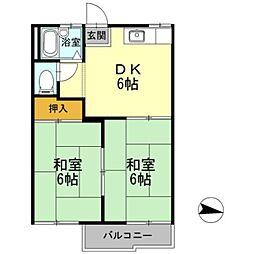 エステート松原[1階]の間取り
