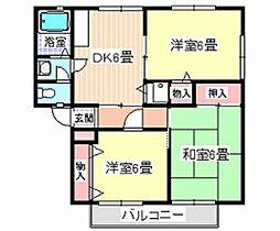 バードライムA[1階]の間取り