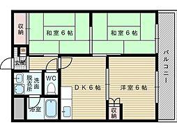 西口マンション[1階]の間取り