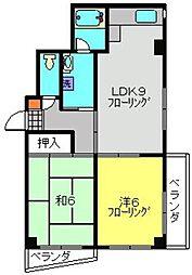 JINマンション[205号室]の間取り