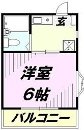 埼玉県所沢市北所沢町の賃貸マンションの間取り