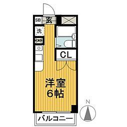 ジェイラム横濱[2階]の間取り