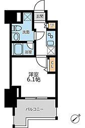 JR京浜東北・根岸線 横浜駅 徒歩8分の賃貸マンション 3階1Kの間取り