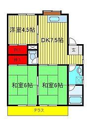コーポKIKU[1階]の間取り
