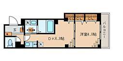 マミービル 1階1DKの間取り