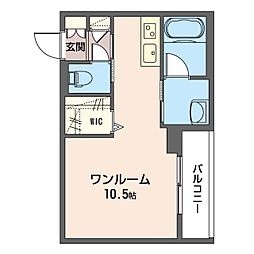 仮)中央区南町ホテルライクマンションB 3階ワンルームの間取り