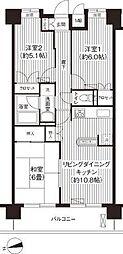 アーバンフォレスト・森田[4階]の間取り