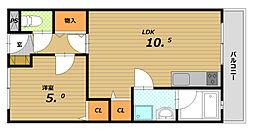 第二森本マンション[1階]の間取り