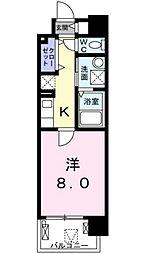 京阪本線 滝井駅 徒歩2分の賃貸マンション 1階1Kの間取り