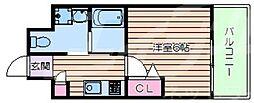 LiveCasa上新庄 7階1Kの間取り