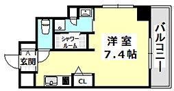 阪急京都本線 南茨木駅 徒歩1分の賃貸マンション 2階ワンルームの間取り