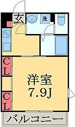JR総武線 東船橋駅 徒歩4分の賃貸マンション 1階1Kの間取り