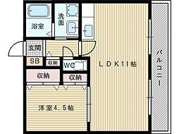 シャトー恵[3階]の間取り