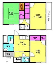 [一戸建] 兵庫県加古川市東神吉町神吉 の賃貸【/】の間取り