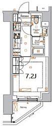 東急池上線 御嶽山駅 徒歩5分の賃貸マンション 2階1Kの間取り