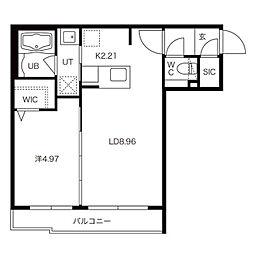 グランドサクセス麻生II(新琴似8-1MS)A棟 2階1LDKの間取り