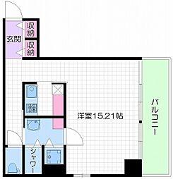 大阪府大阪市中央区南船場4丁目の賃貸マンションの間取り