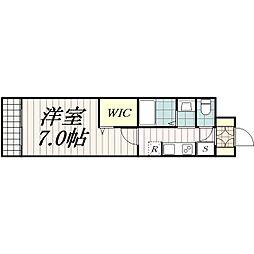 千葉県千葉市中央区南町2丁目の賃貸アパートの間取り