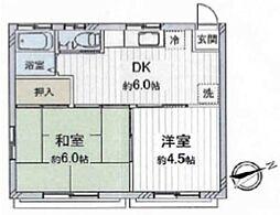 大武アパート[1階]の間取り