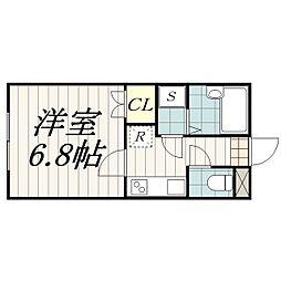千葉県千葉市花見川区朝日ケ丘4丁目の賃貸アパートの間取り