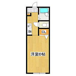 すみれビラ[107号室]の間取り