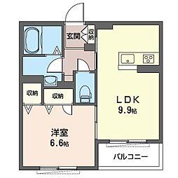 仮)八王子市初沢町シャーメゾン 1階1LDKの間取り