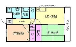 コウジィーコート[3階]の間取り
