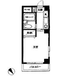 ハイネス鹿島田[404号室]の間取り