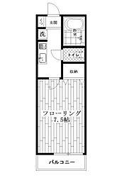 東京都中野区上鷺宮1丁目の賃貸アパートの間取り