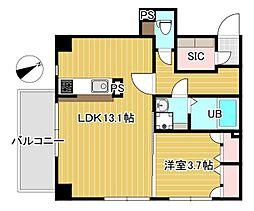 Y'sマンション弐番館 5階1LDKの間取り