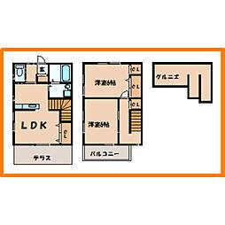 [テラスハウス] 東京都練馬区田柄5丁目 の賃貸【/】の間取り