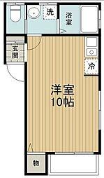 東武越生線 武州長瀬駅 徒歩6分の賃貸アパート 1階ワンルームの間取り