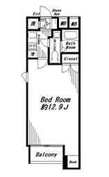 ビバリーホームズ代官山 2階1Kの間取り