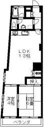 国分寺ヒミコマンション 2階2LDKの間取り