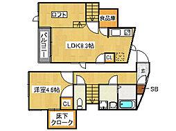CB井尻ボヌールヴァンテ[1階]の間取り