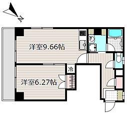 エオストル佃[2階]の間取り