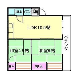 渋谷ハイツ[4階]の間取り