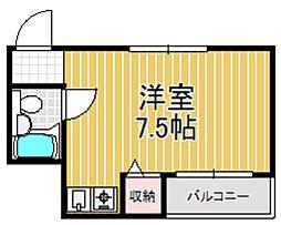 トマトハイツ小阪[1階]の間取り