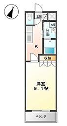 スタジオフラット[1階]の間取り