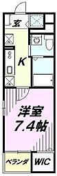 埼玉県狭山市祇園の賃貸マンションの間取り