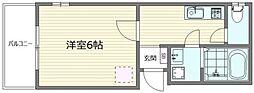 アルバ新宿 3階1Kの間取り