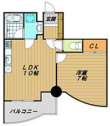カーサヤナガワ[2階]の間取り